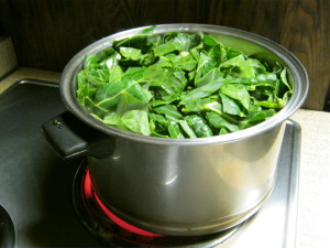 collard greens cooking